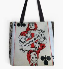 The Playing Cards - Queen of Clubs - A Dark Woman Tote Bag