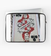 The Playing Cards - Queen of Clubs - A Dark Woman Laptop Sleeve