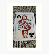 The Playing Cards - Queen of Clubs - A Dark Woman Art Print