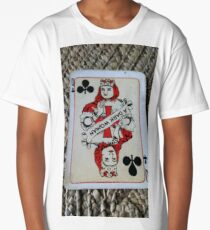 The Playing Cards - Queen of Clubs - A Dark Woman Long T-Shirt