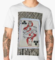 The Playing Cards - Queen of Clubs - A Dark Woman Men's Premium T-Shirt