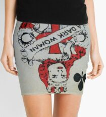 The Playing Cards - Queen of Clubs - A Dark Woman Mini Skirt
