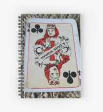 The Playing Cards - Queen of Clubs - A Dark Woman Spiral Notebook