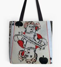 The Playing Cards - Queen of Spades - A Very Dark Woman Tote Bag