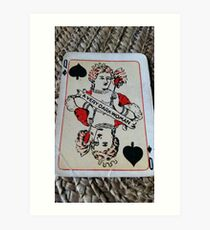 The Playing Cards - Queen of Spades - A Very Dark Woman Art Print