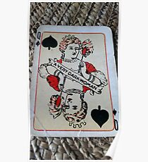 The Playing Cards - Queen of Spades - A Very Dark Woman Poster