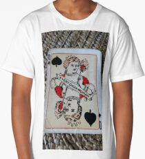 The Playing Cards - Queen of Spades - A Very Dark Woman Long T-Shirt