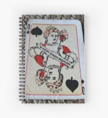 The Playing Cards - Queen of Spades - A Very Dark Woman Spiral Notebook