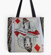 The Playing Cards - Queen of Diamonds - A Very fair Woman Tote Bag
