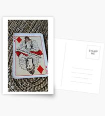 The Playing Cards - Queen of Diamonds - A Very fair Woman Postcards