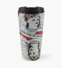 The Playing Cards - Queen of Diamonds - A Very fair Woman Travel Mug