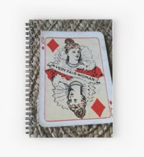The Playing Cards - Queen of Diamonds - A Very fair Woman Spiral Notebook
