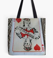 The Playing Cards - Queen of Hearts - A Fair Woman Tote Bag