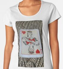 The Playing Cards - Queen of Hearts - A Fair Woman Women's Premium T-Shirt