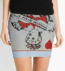 The Playing Cards - Queen of Hearts - A Fair Woman Mini Skirt
