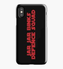 Darth Jar Jar Fan (red, bold) iPhone Case