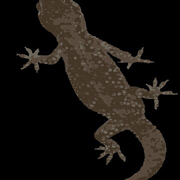 Mediterranean House Gecko Vector No2 by taiche