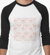 Blushing rose skulls Men's Baseball ¾ T-Shirt