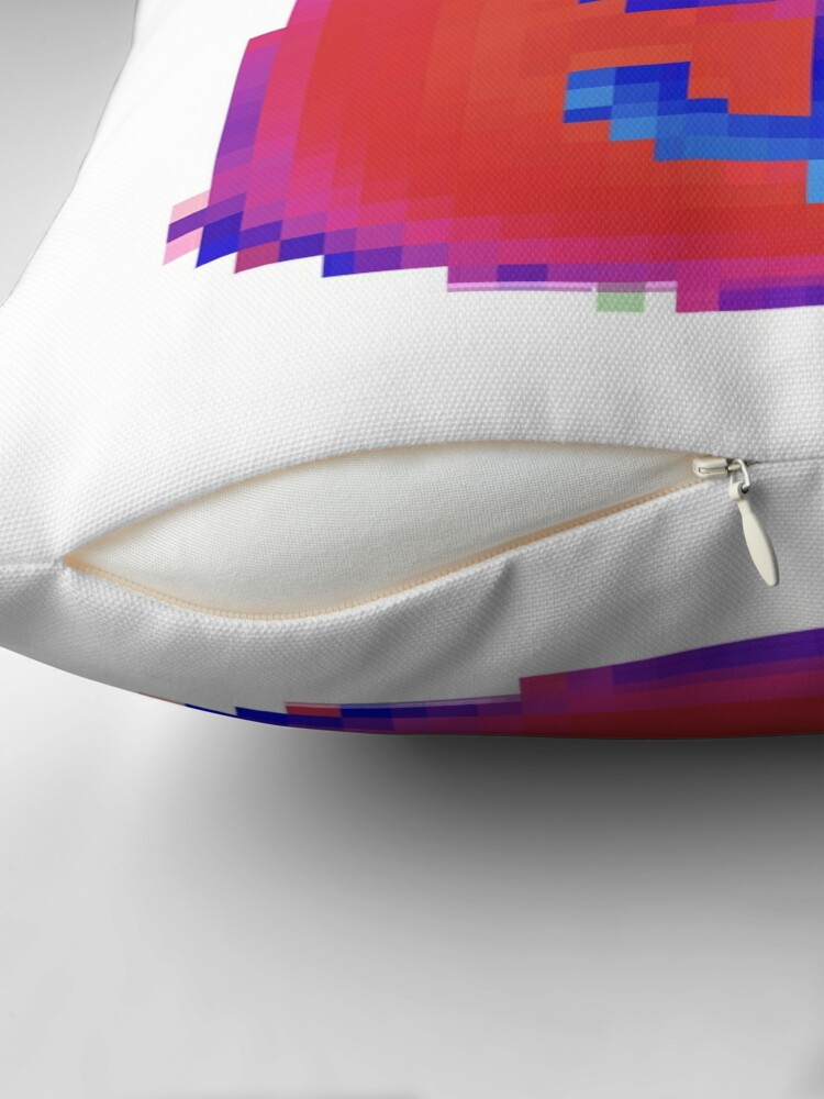 Alternate view of Emoboxes 3 bag by RootCat (purple shade) Throw Pillow