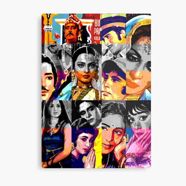 Vintage Bollywood Pattern 3 Metal Print