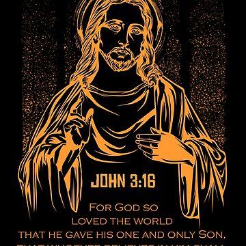 Jesus Christ John 3:16 by Lumio