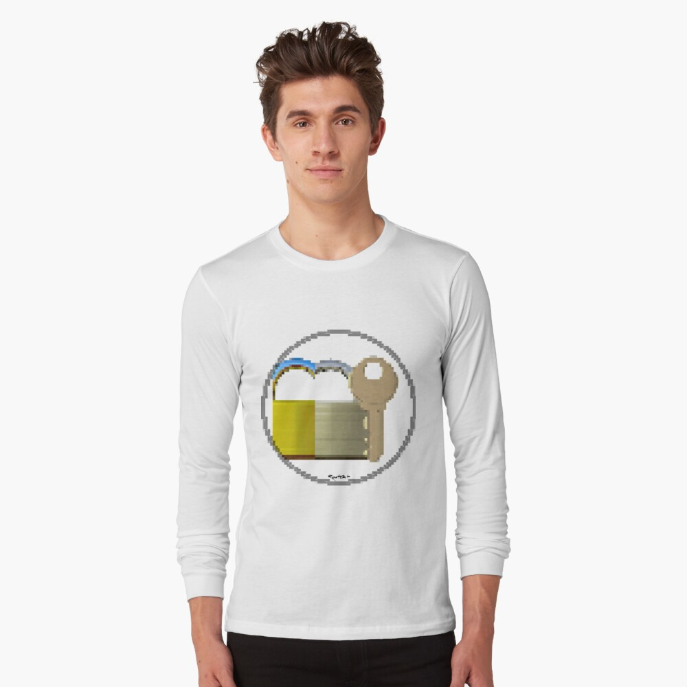 Pixiilated Key 999 by RootCat Long Sleeve T-Shirt