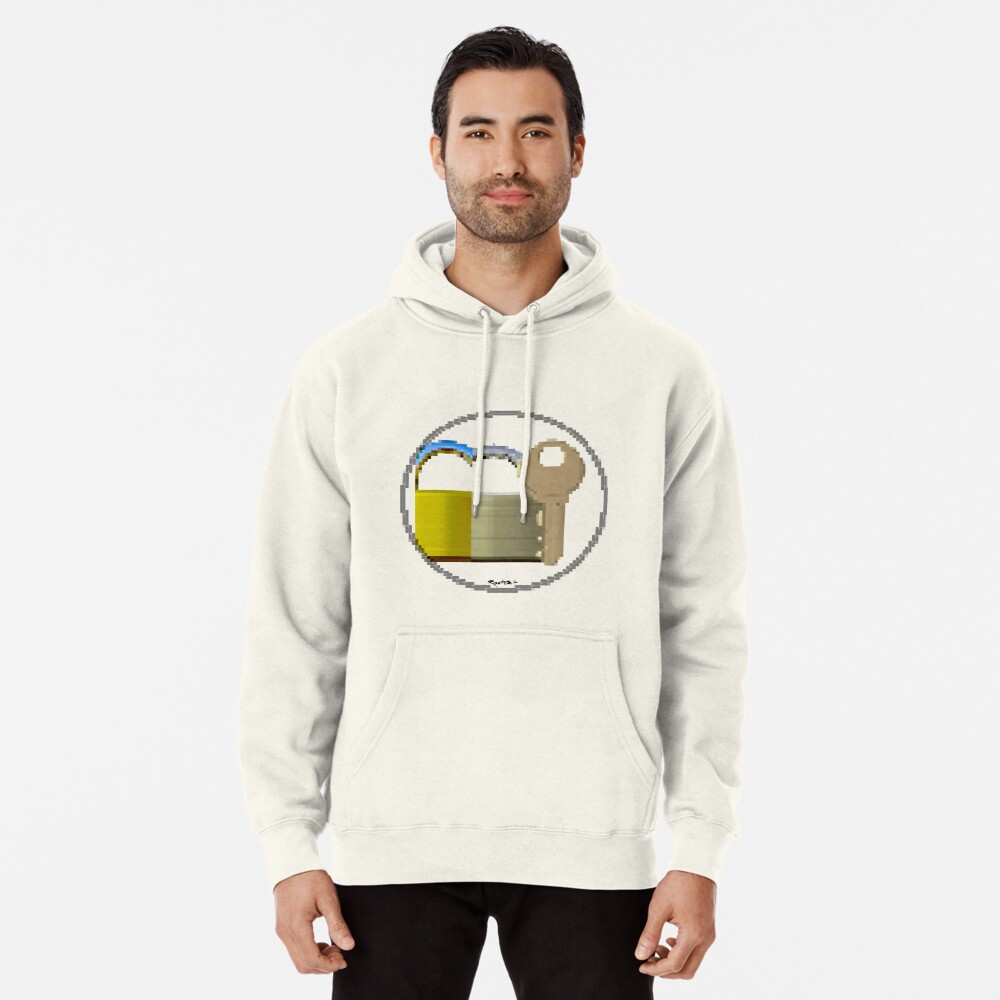 Pixiilated Key 999 by RootCat Pullover Hoodie