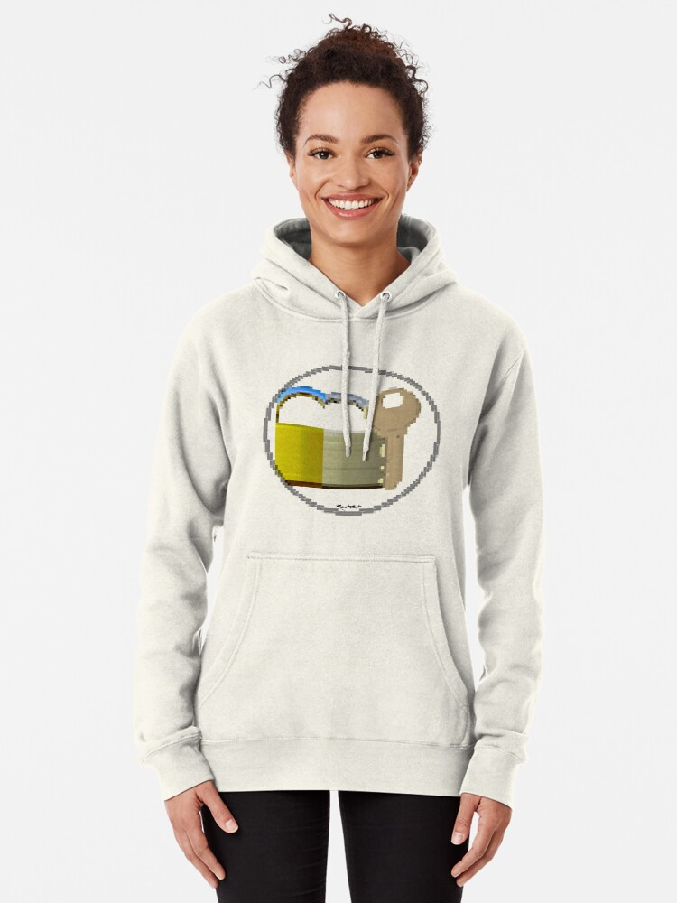 Alternate view of Pixiilated Key 999 by RootCat Pullover Hoodie