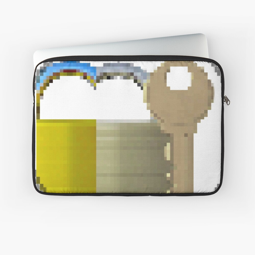 Pixiilated Key 999 by RootCat Laptop Sleeve