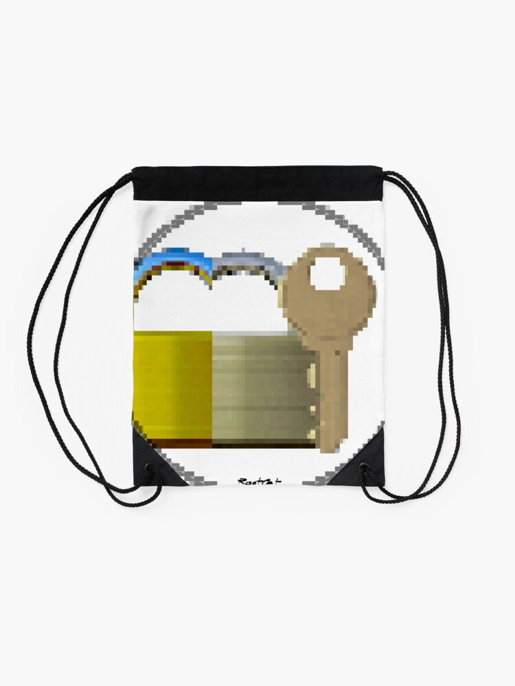 Alternate view of Pixiilated Key 999 by RootCat Drawstring Bag