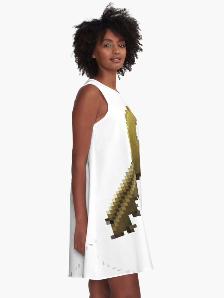 Alternate view of Pixiilated Key by RootCat A-Line Dress