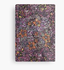 Harmony flower pattern art Metal Print