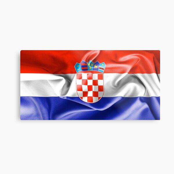 Croatia Flag Metal Print