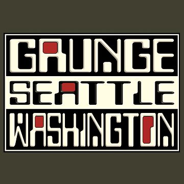 Vintage Grunge Seattle Washington by barminam