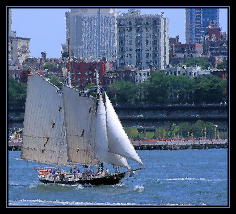 SAILING NEW YORK BRUSHSTROKES by BOLLA67