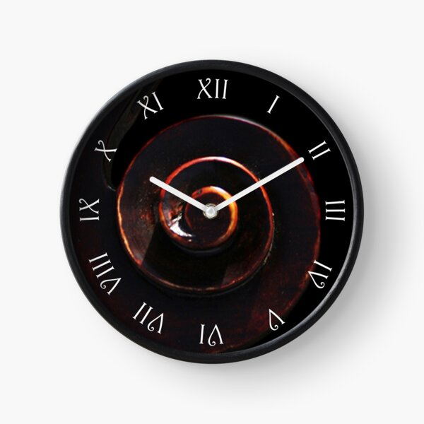 Cello 2 White Script Roman Numbers Wall Clock Clock
