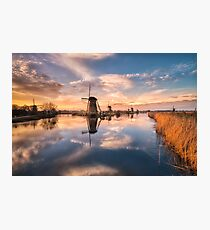 Kinderdijk mills Photographic Print