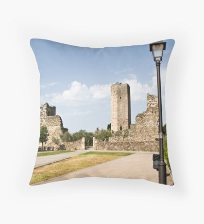 La Rocca di Serravalle Pistoiese Throw Pillow