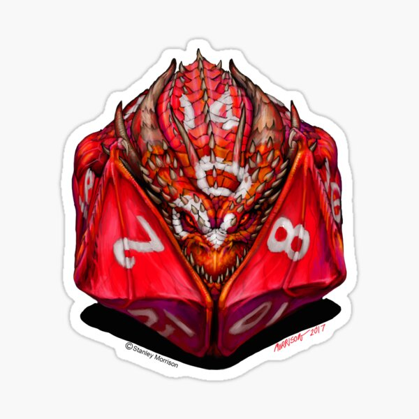 D20 Dragon Sticker