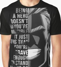 My Hero, All Might Graphic T-Shirt