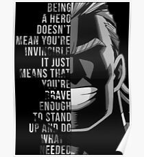 My Hero, All Might Poster