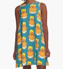 Angry Baby Trump A-Line Dress