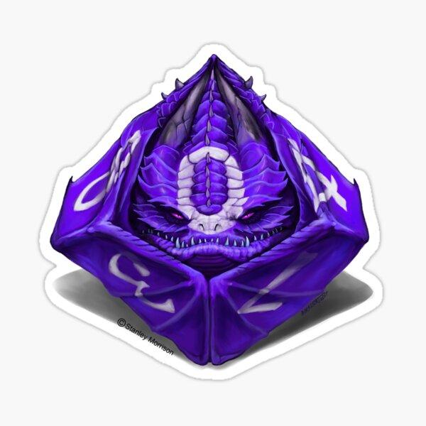 D10 dragon dice Sticker