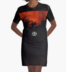 Morning Chat with Apau Hawaii Tours Graphic T-Shirt Dress