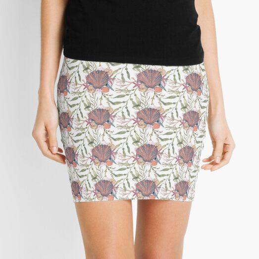 Shell and seaweed flotsam Mini Skirt