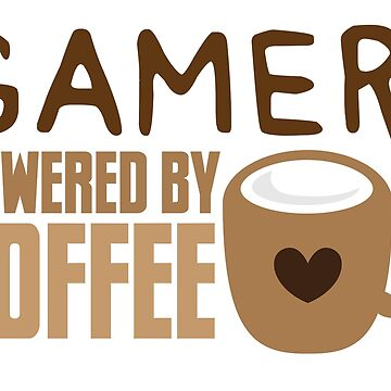 Gamer powered by coffee by jazzydevil