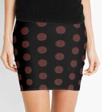 Plaid polka dots Mini Skirt