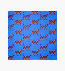 Blue and red spiral cat2 Scarf