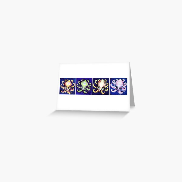 Little Octis All In A Row Greeting Card