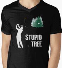 Stupid Tree - Funny Golf Lovers Gift For Men Men's V-Neck T-Shirt